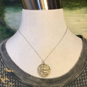 """""""Love is All You Need"""" Silver Coin 18"""" Necklace"""